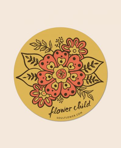 FLOWER CHILD STICKER - Tree Of Life Shoppe
