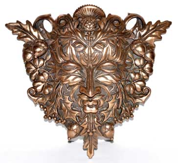Greenman Wall Plaque 12 inches - Tree Of Life Shoppe