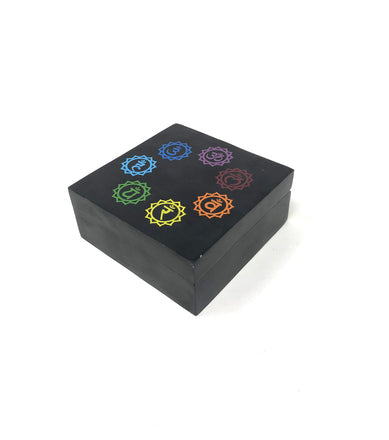 Chakra - Distance Healing Soapstone Box - Tree Of Life Shoppe