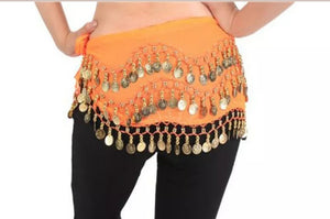 Belly Dance Coin Skirt / Hip Scarf Gold Coins - Tree Of Life Shoppe