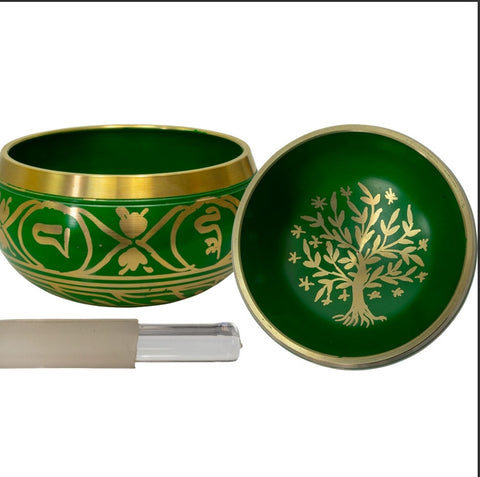 Green Tree Of Life Singing Bowl