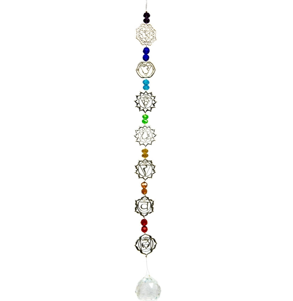 7 Chakras Suncatcher with czech style beads