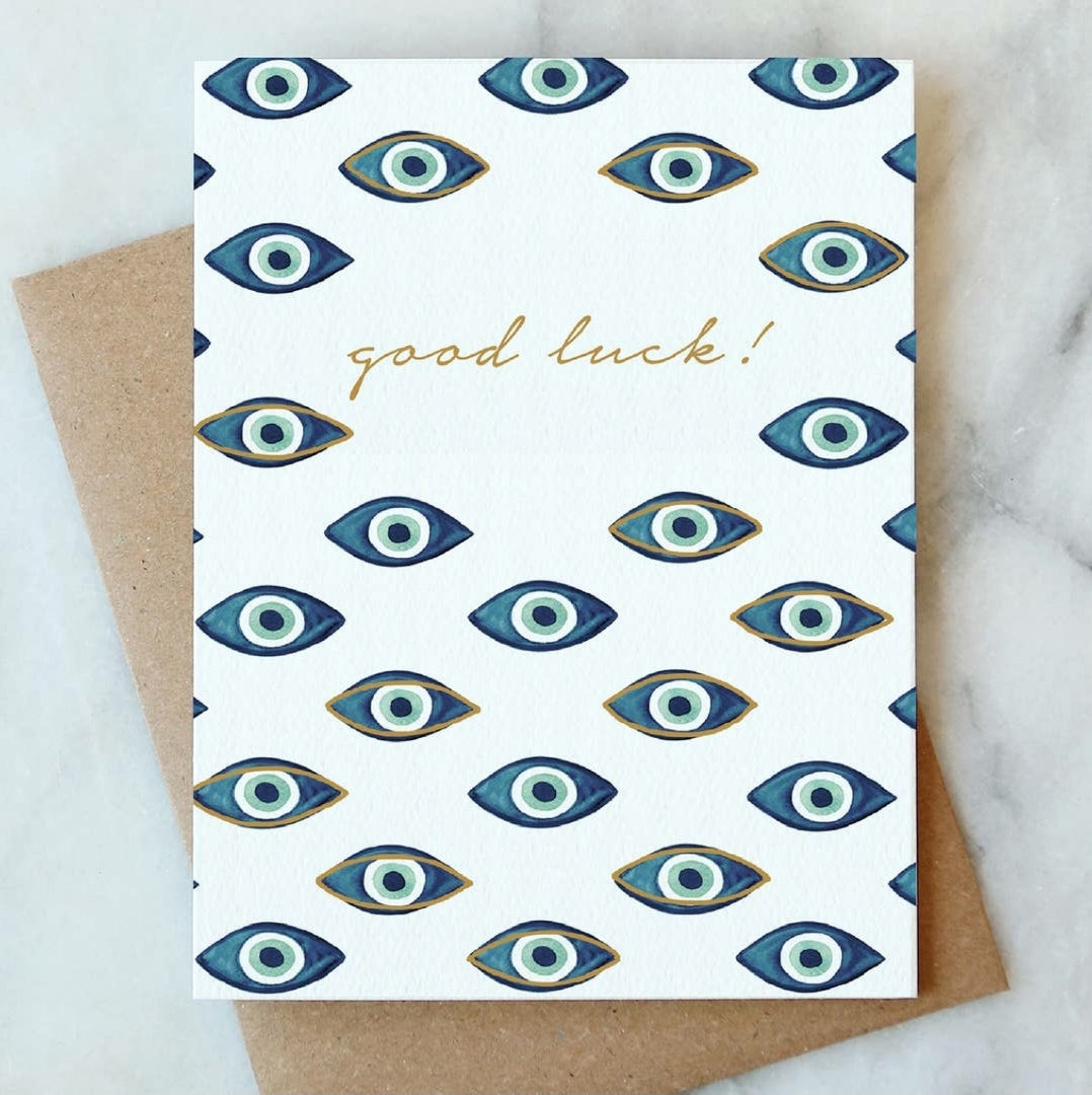 Evil Eye, Good Luck Card, Greeting Card