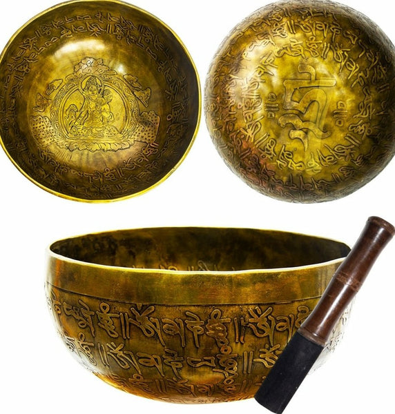 Ancient Design Handcrafted Singing Bowl 7.5 inches - Tara - Tree Of Life Shoppe