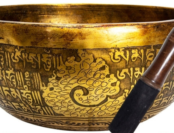 Ancient Design Handcrafted Singing Bowl 7.5 inches - Buddha - Tree Of Life Shoppe