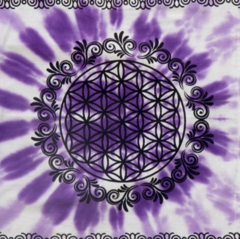 Altar Cloth 36 x 36, Flower Of Life - Tree Of Life Shoppe