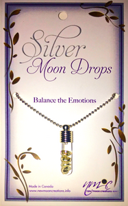 Nature's Power Pendant - SILVER MOON DROP PENDANT FOR THE BALANCE OF EMOTIONS - Tree Of Life Shoppe