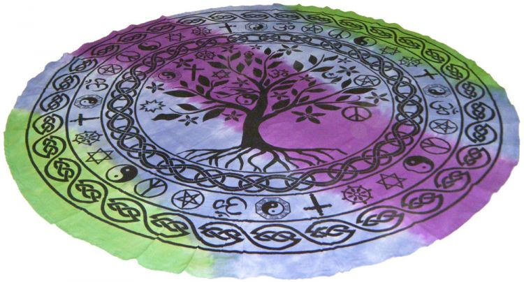 Colorful Tree of Life Round Tapestry - Tree Of Life Shoppe