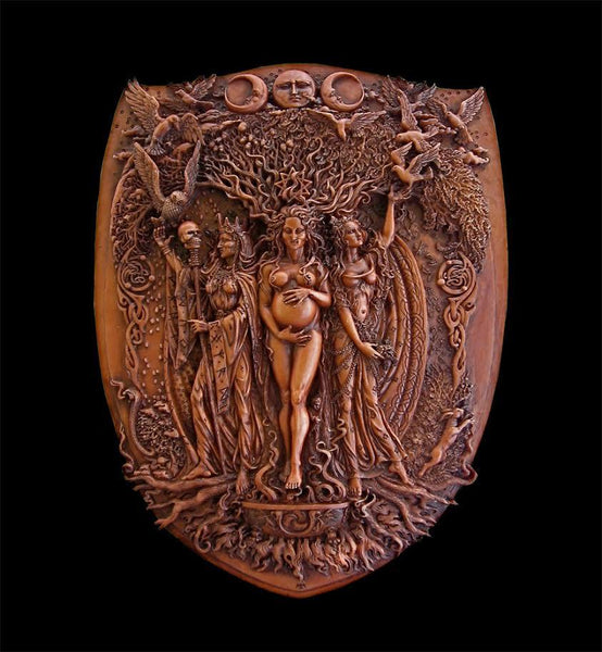 Triple Goddess, Mother, Maiden, Crone Wall Decor - Tree Of Life Shoppe