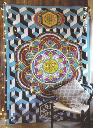 "Geometric Tapestry Multi Color 54"" x 86"" - Tree Of Life Shoppe"