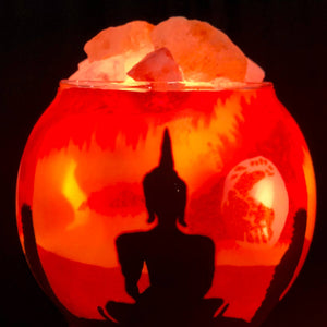 Buddha Salt Lamp Diffuser With Dimmer Cord - Tree Of Life Shoppe