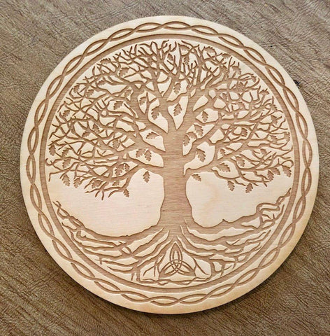Celtic Tree of Life Crystal Grid / Altar Tile - Tree Of Life Shoppe