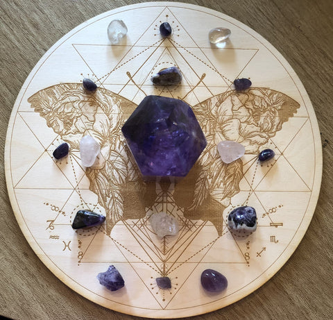 BUTTERFLY SRI YANTRA CRYSTAL GRID