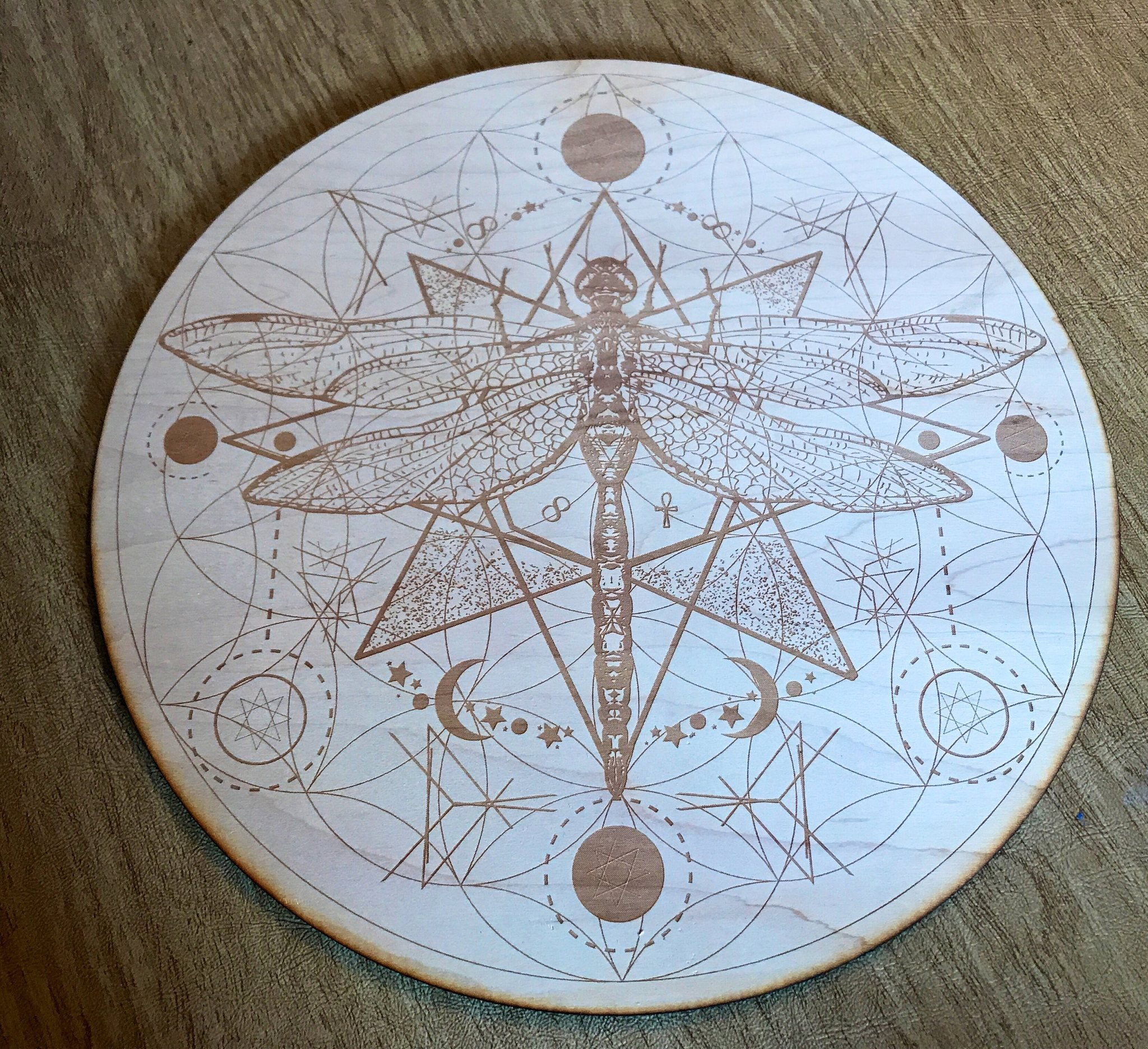DRAGONFLY FLOWER OF LIFE CRYSTAL GRID - Tree Of Life Shoppe