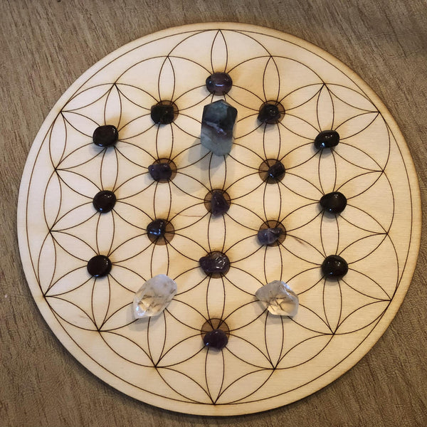 FLOWER OF LIFE - TREE OF LIFE CRYSTAL GRID - Tree Of Life Shoppe