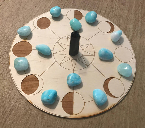 MOON PHASE CRYSTAL GRID