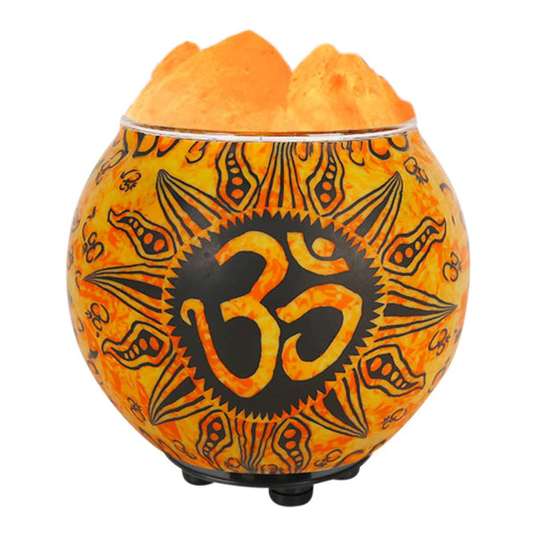 OM Salt Lamp Diffuser With UL Listed Dimmer Cord - Tree Of Life Shoppe