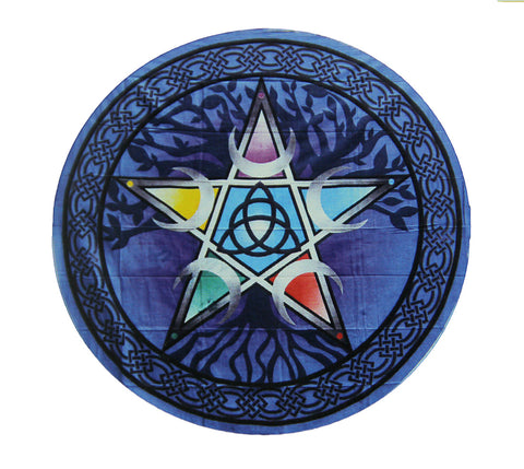 "Pentacle Round Tapestry 60"" Diamter - Tree Of Life Shoppe"