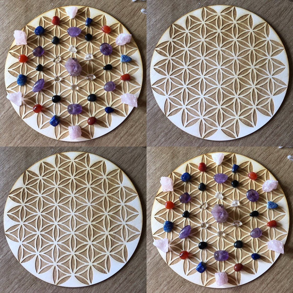 FLOWER OF LIFE CRYSTAL GRID - INVERTED FLOWER OF LIFE