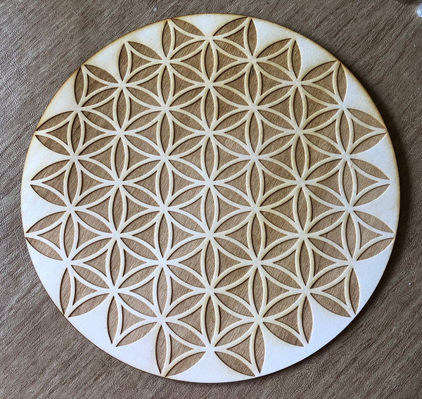 FLOWER OF LIFE CRYSTAL GRID - INVERTED FLOWER OF LIFE - Tree Of Life Shoppe