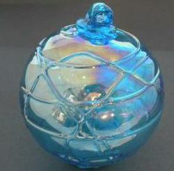 Aqua Blue Spider Web Witch Globe 4 inches - Tree Of Life Shoppe