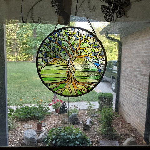 Tree of Life Glass Suncatcher 6in - Tree Of Life Shoppe