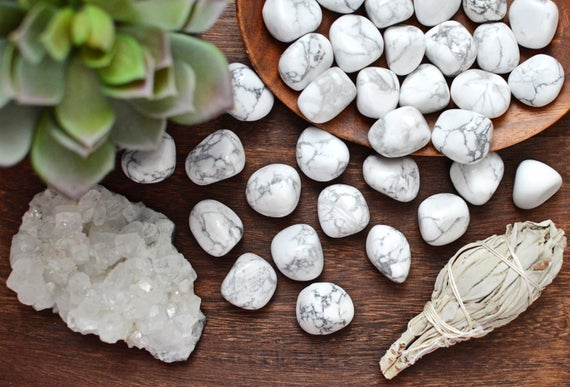 Howlite, White - Tumbled - Tree Of Life Shoppe
