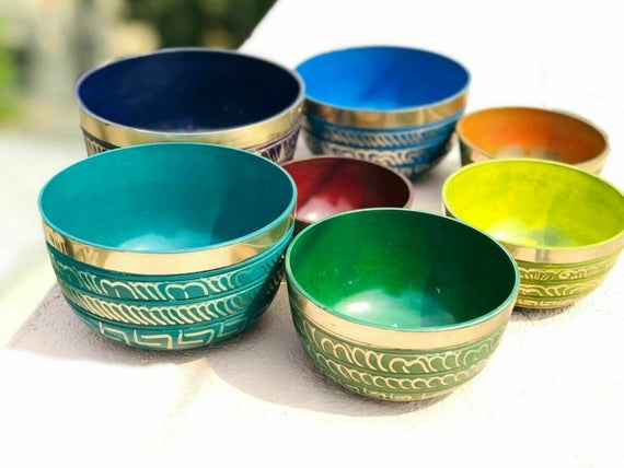 Chakra Singing Bowl Set of 7 from Nepal - Tree Of Life Shoppe
