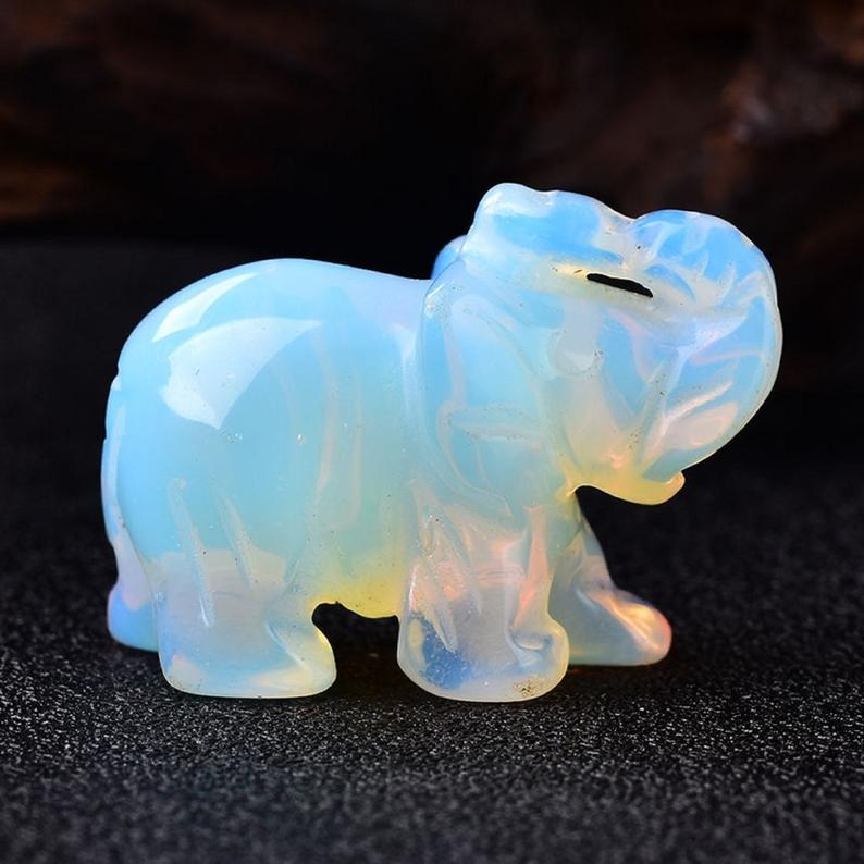 Spirit Animal - Opalite Elephant - Tree Of Life Shoppe