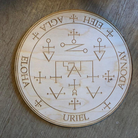 URIEL CRYSTAL GRID - URIEL ALTAR TABLE - Tree Of Life Shoppe