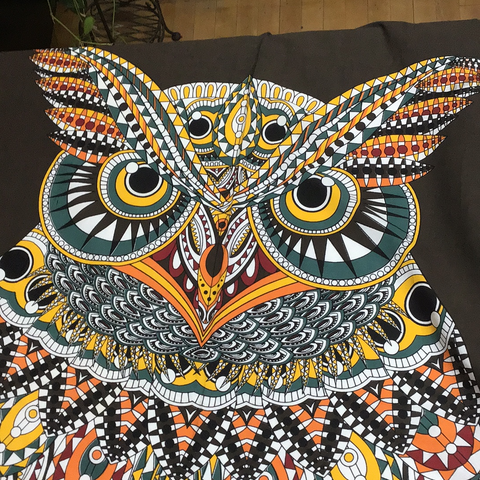 "Sacred Owl Tapestry 54""x86"" - Tree Of Life Shoppe"