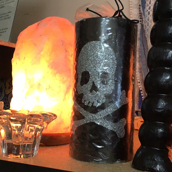 Glitter Skull Candle - Tree Of Life Shoppe