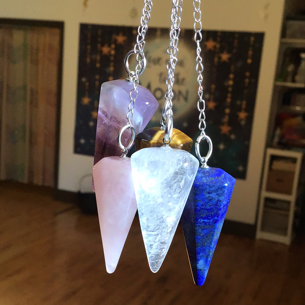 6-Sided Gemstone Pendulums