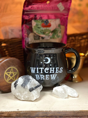 Witches Brew -  Black Cauldron Mug