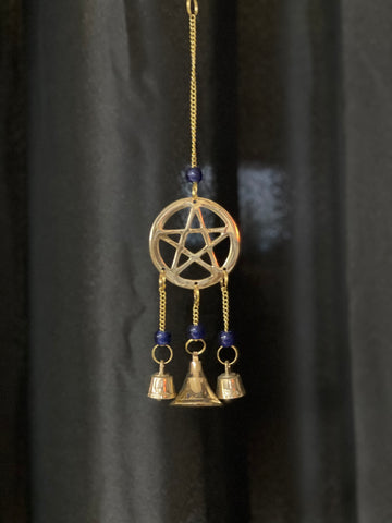 Pentacle Brass wind chime - Tree Of Life Shoppe
