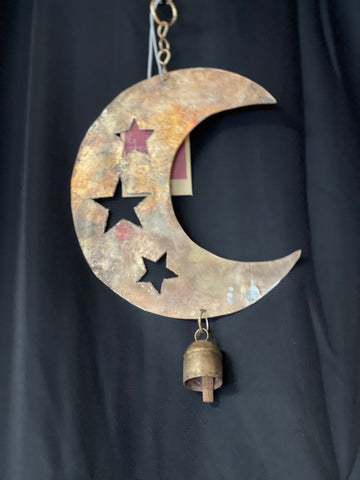 Star Cut Moon Recycled Wind Chime