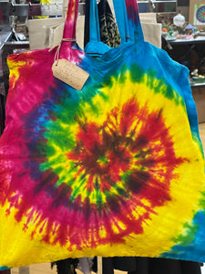 Rainbow Tye dye Tote - Tree Of Life Shoppe