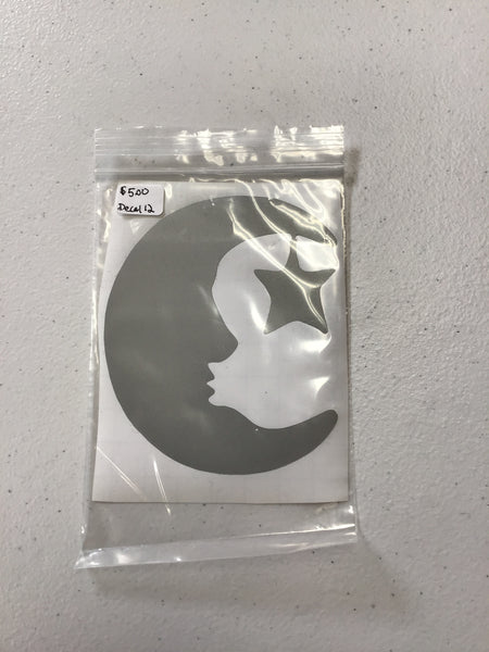 Man in the Moon & Star Sticker / Decal 4 inch