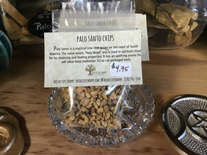Palo Santo Chips 1/2 oz - Tree Of Life Shoppe
