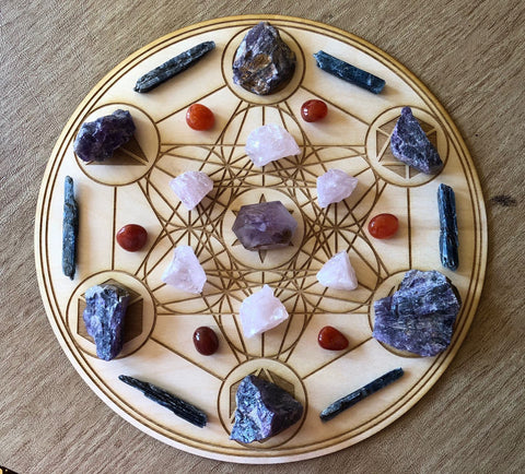 METATRON'S CUBE CRYSTAL GRID - PLATONIC SOLIDS
