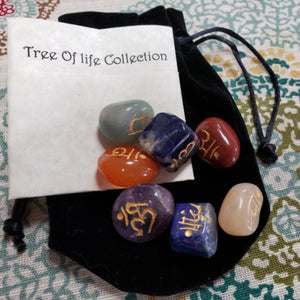 Engraved Chakra Gemstone Set - Tree Of Life Shoppe