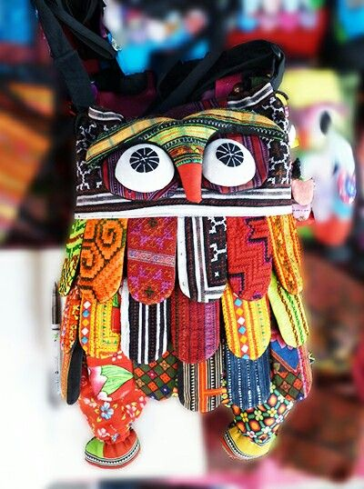 Cloth Owl Back Pack - Tree Of Life Shoppe