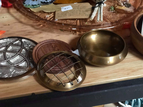 Brass Burner Pot with Coaster