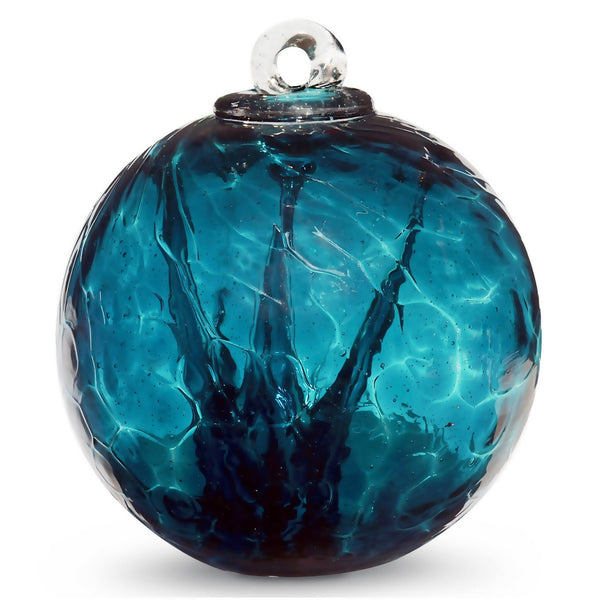 SMALL WITCH BALL SEA GREEN 4 INCH - Tree Of Life Shoppe