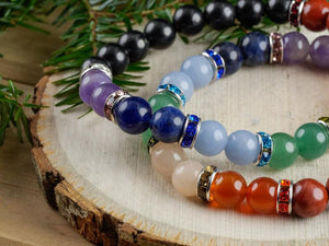 Chakras & Shugnite 8 mm Bead Bracelet - Tree Of Life Shoppe