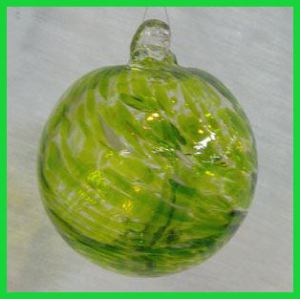 Peridot Gemstone Witch Ball 4 inches