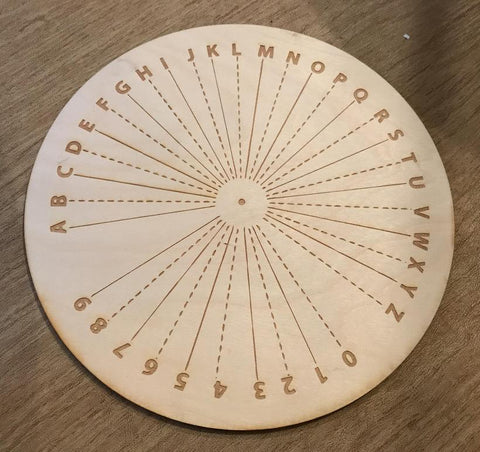 Alpha Numeric Pendulum Crystal Grid - Tree Of Life Shoppe