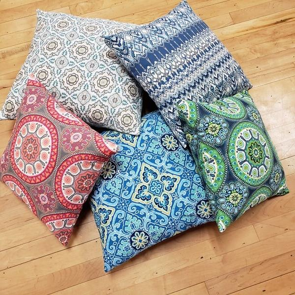 Yoga and Meditation Square Pillows 16 by 16 inches - Tree Of Life Shoppe