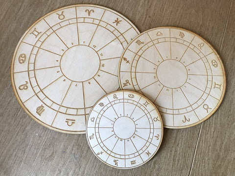 ZODIAC WHEEL CRYSTAL GRID / TILE - Tree Of Life Shoppe
