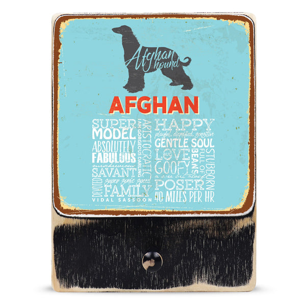 Afghan Hound (Typedography)